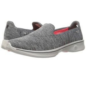 Grey go walk 4 active walking Skechers shoes